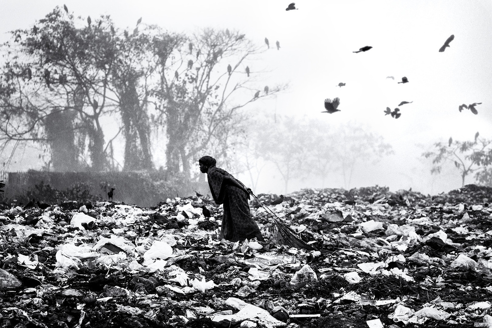 A piece of fine art art photography titled Life On Garbage Dump Yard by Marcel Rebro
