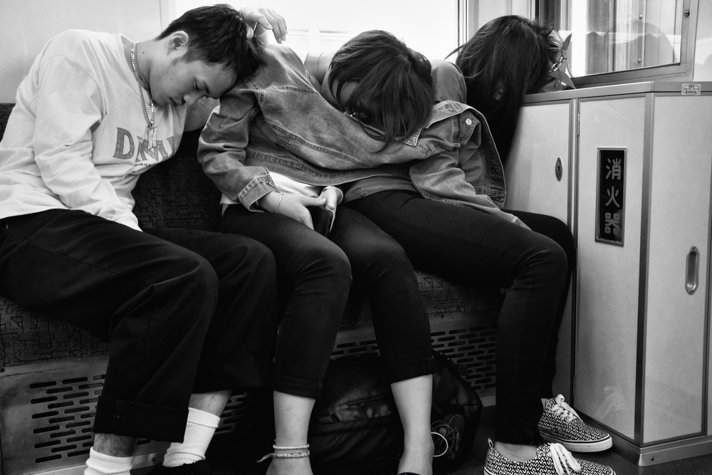 A piece of fine art art photography titled Train by Tatsuo Suzuki