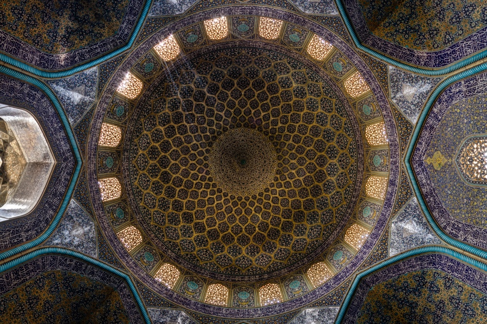 A piece of fine art art photography titled Dome of Sheikh Lotfollah by Mohammad Reza Domiri Ganji