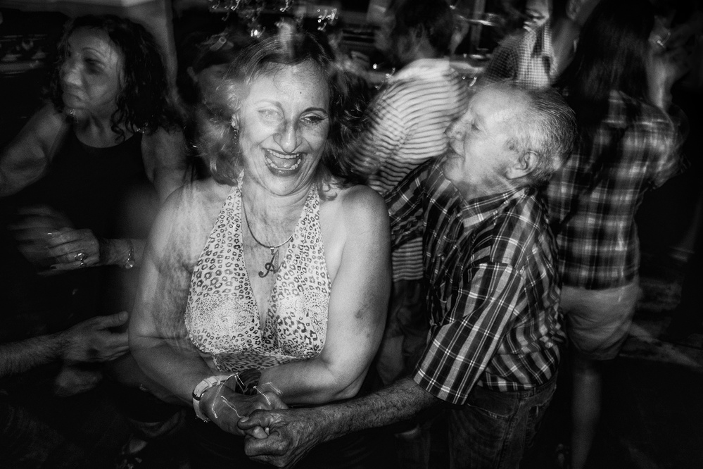 A piece of fine art art photography titled Dancing In the Street by Fabiola Forns