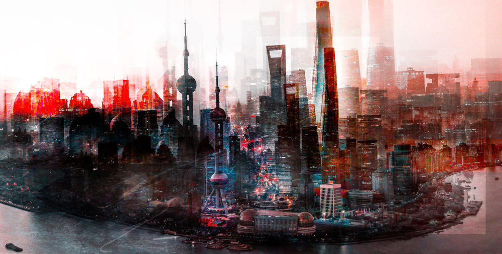 A piece of fine art art photography titled Shanghai at Dawn by Carmine Chiriacò