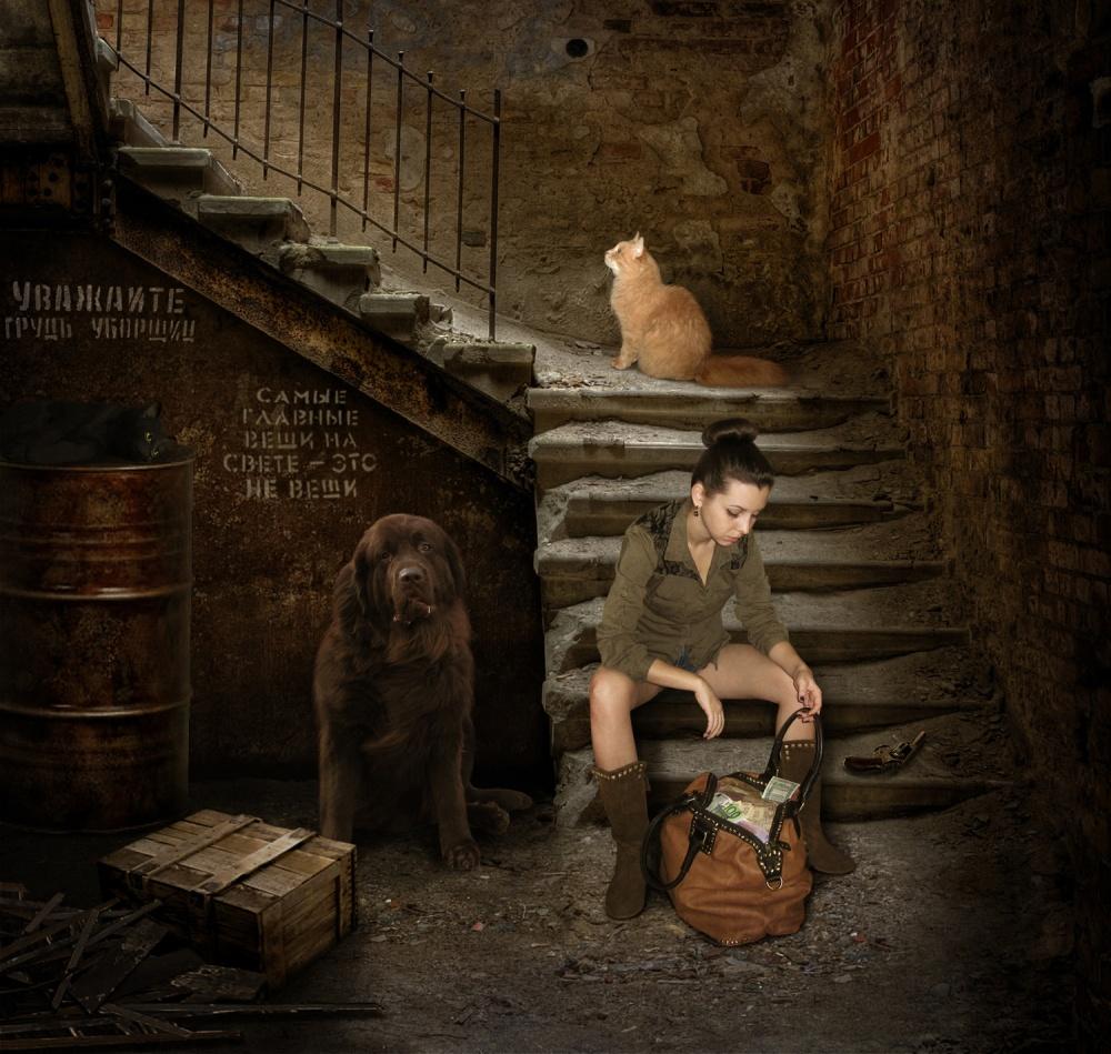 A piece of fine art art photography titled Robbery :)) by Iryna Kuznetsova (Iridi)