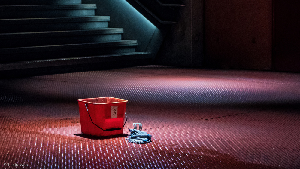 View this piece of fine art photography titled red bucket number 3 by Lus Joosten