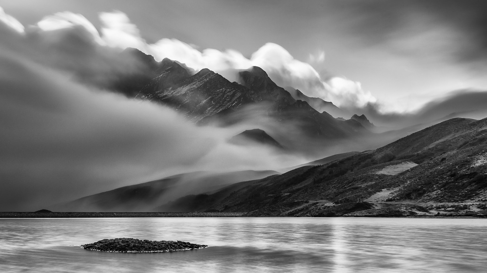 A piece of fine art art photography titled The Island by Reto Savoca