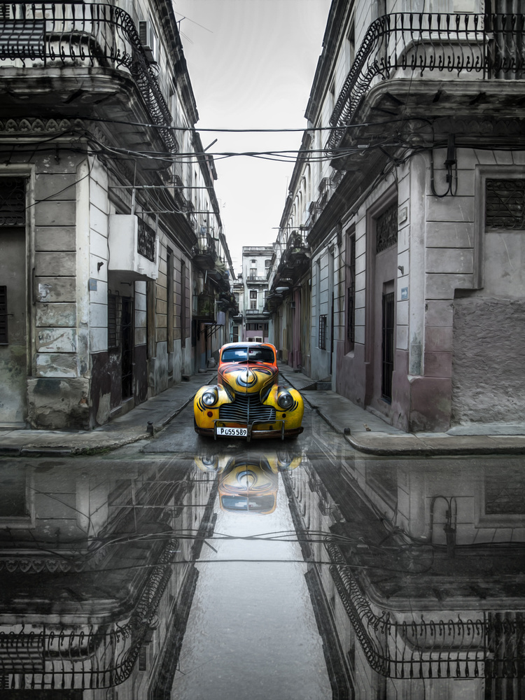 A piece of fine art art photography titled Classic Old Car In Havana, Cuba by Svetlin Yosifov
