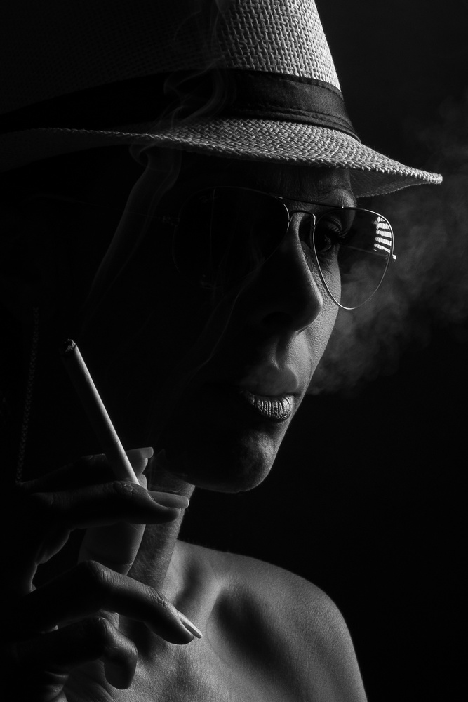 A piece of fine art art photography titled Smoker by Thierry Lagandré (Transgressed Light)