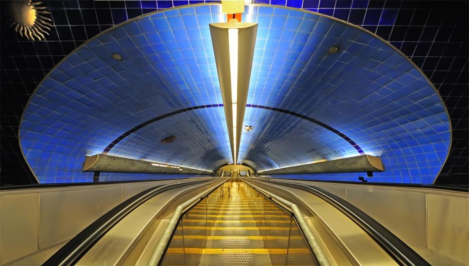 A piece of fine art art photography titled Downstairs by Peter Bigorajski