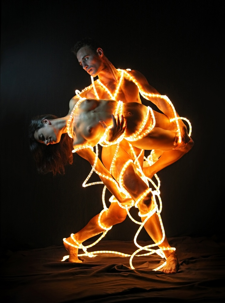 A piece of fine art art photography titled Dancing Lights by DDiArte