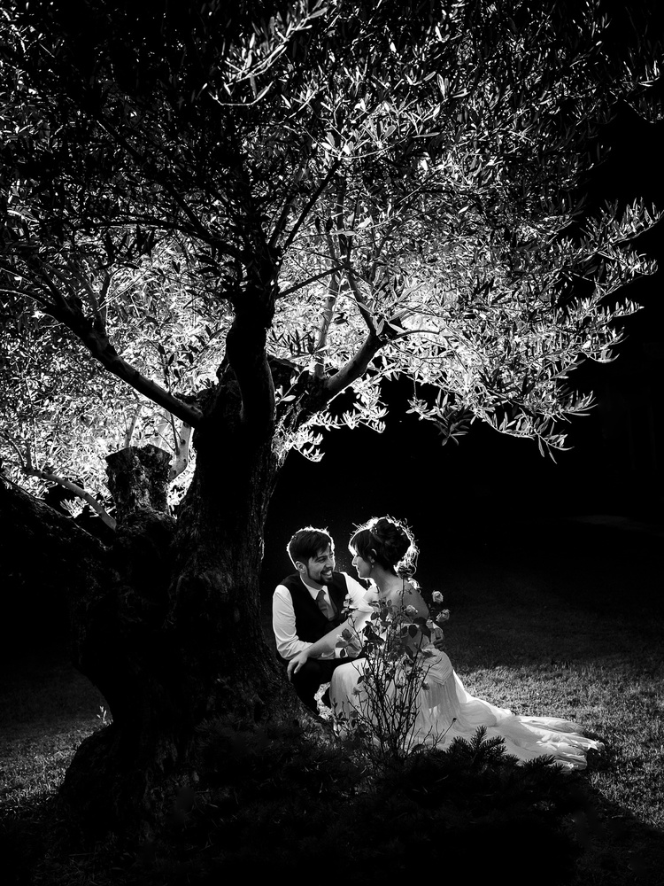 A piece of fine art art photography titled Beautiful Wedding Night by Magda Moiola
