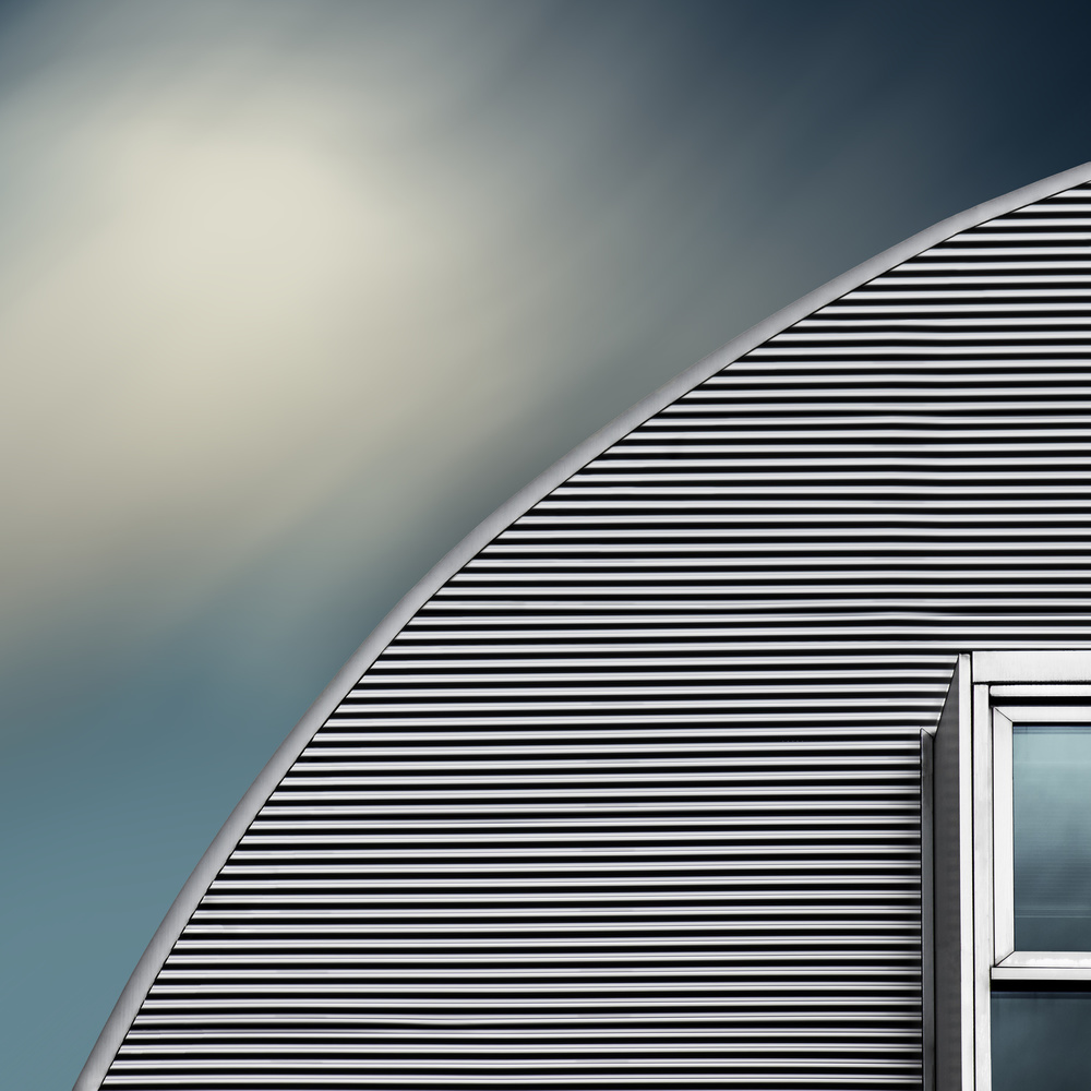 A piece of fine art art photography titled Rounded Roof by Gilbert Claes