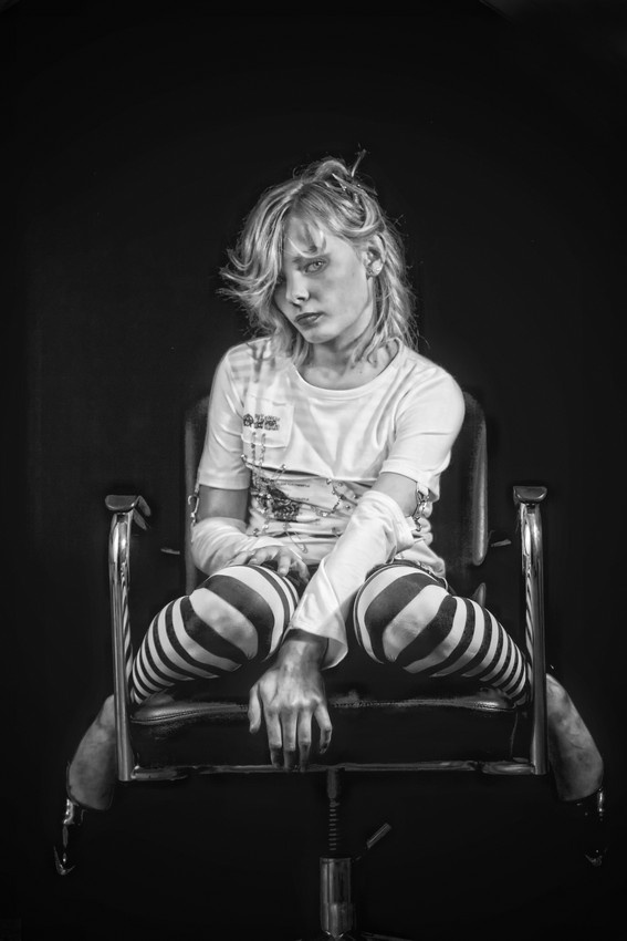 A piece of fine art art photography titled Schoolgirl by ses66