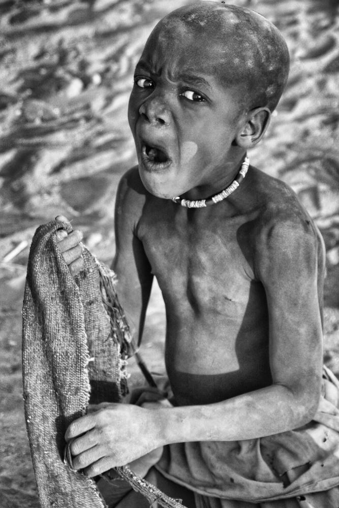 A piece of fine art art photography titled Himba Boy by Joxe Inazio Kuesta Garmendia