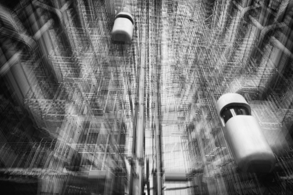 A piece of fine art art photography titled Lift Into the Future by Roswitha Schleicher-Schwarz
