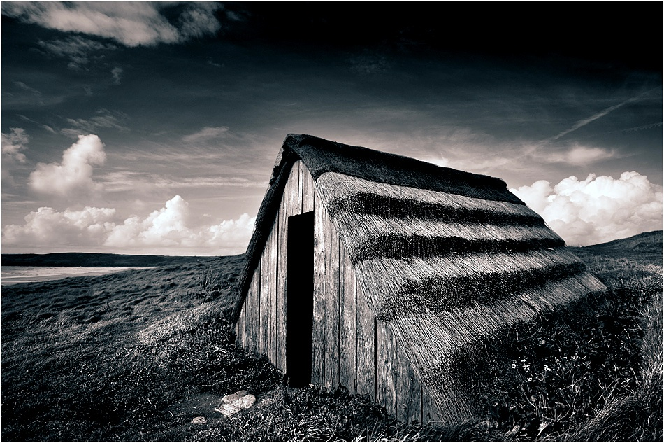 A piece of fine art art photography titled Hut by Tim Johnstone