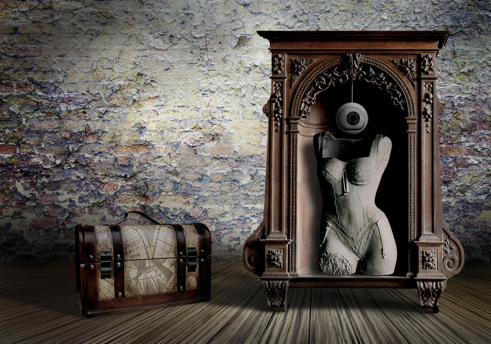 A piece of fine art art photography titled Colonial Souvenirs from the Past by Ben Goossens