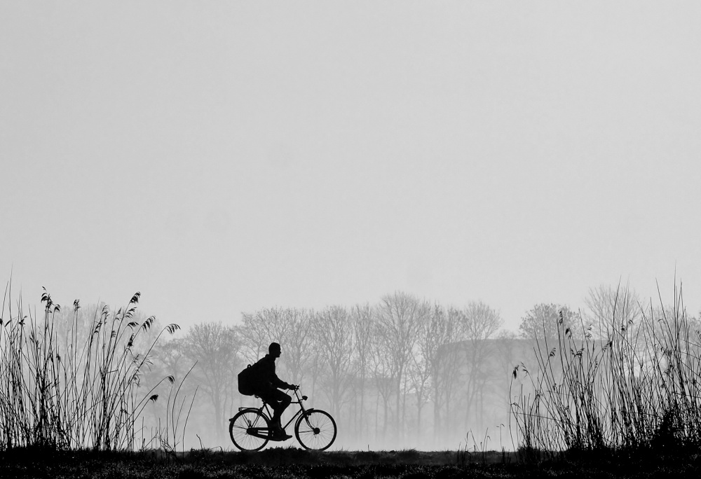 A piece of fine art art photography titled By Bike by Annemieke