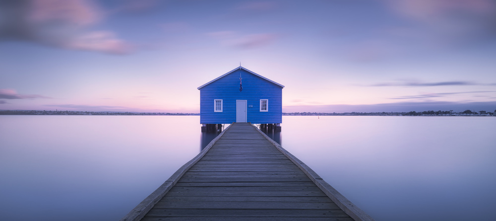 A piece of fine art art photography titled Boathouse by Richard Vandewalle