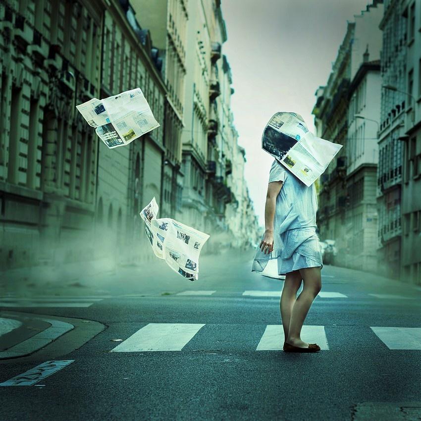 A piece of fine art art photography titled Bad News by Julie de Waroquier