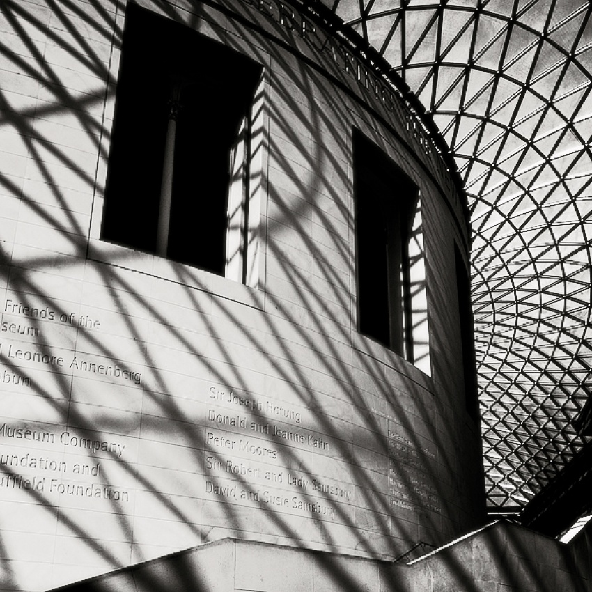 A piece of fine art art photography titled British Museum by Stefano Orazzini