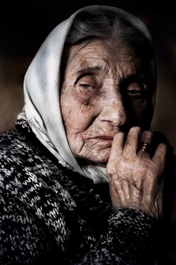 A piece of fine art art photography titled Grandma by Erhan Dayi