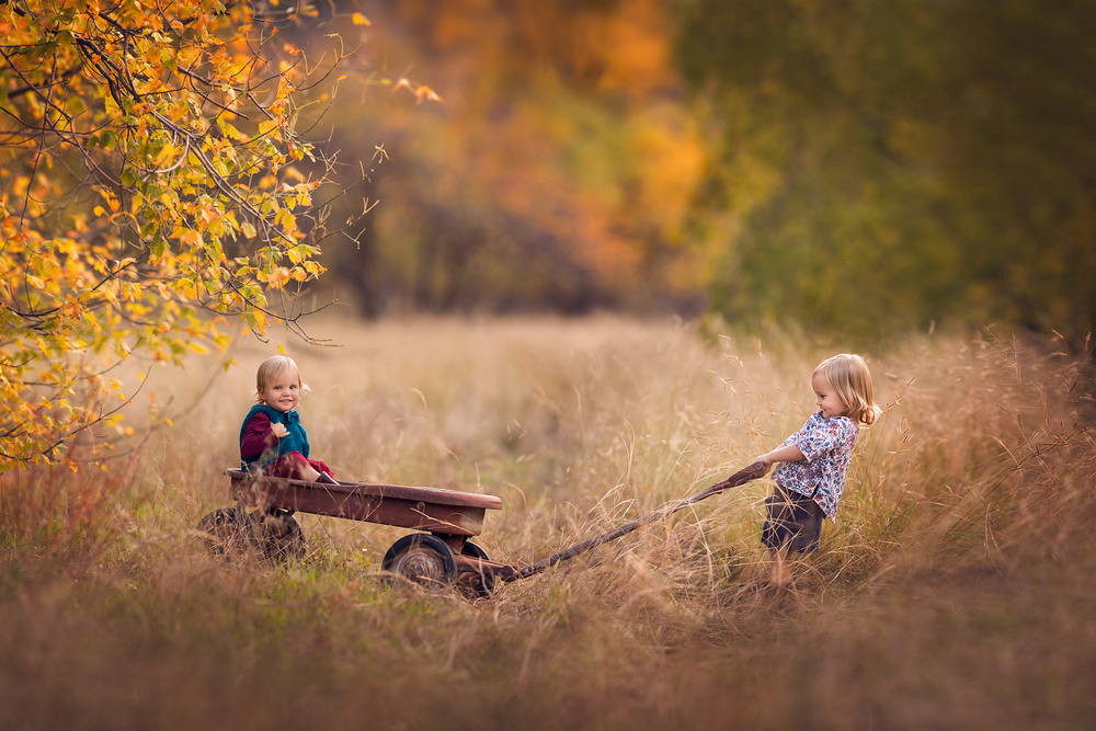 A piece of fine art art photography titled Double the Trouble, Twice the Fun by Lisa Holloway