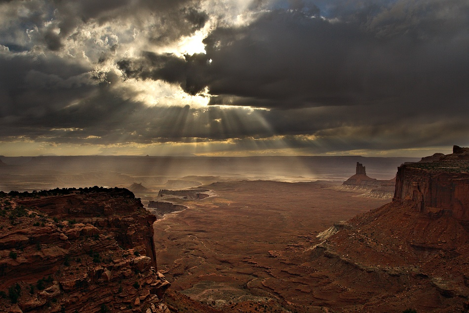 A piece of fine art art photography titled Canyon Storm by Gale Rainwater