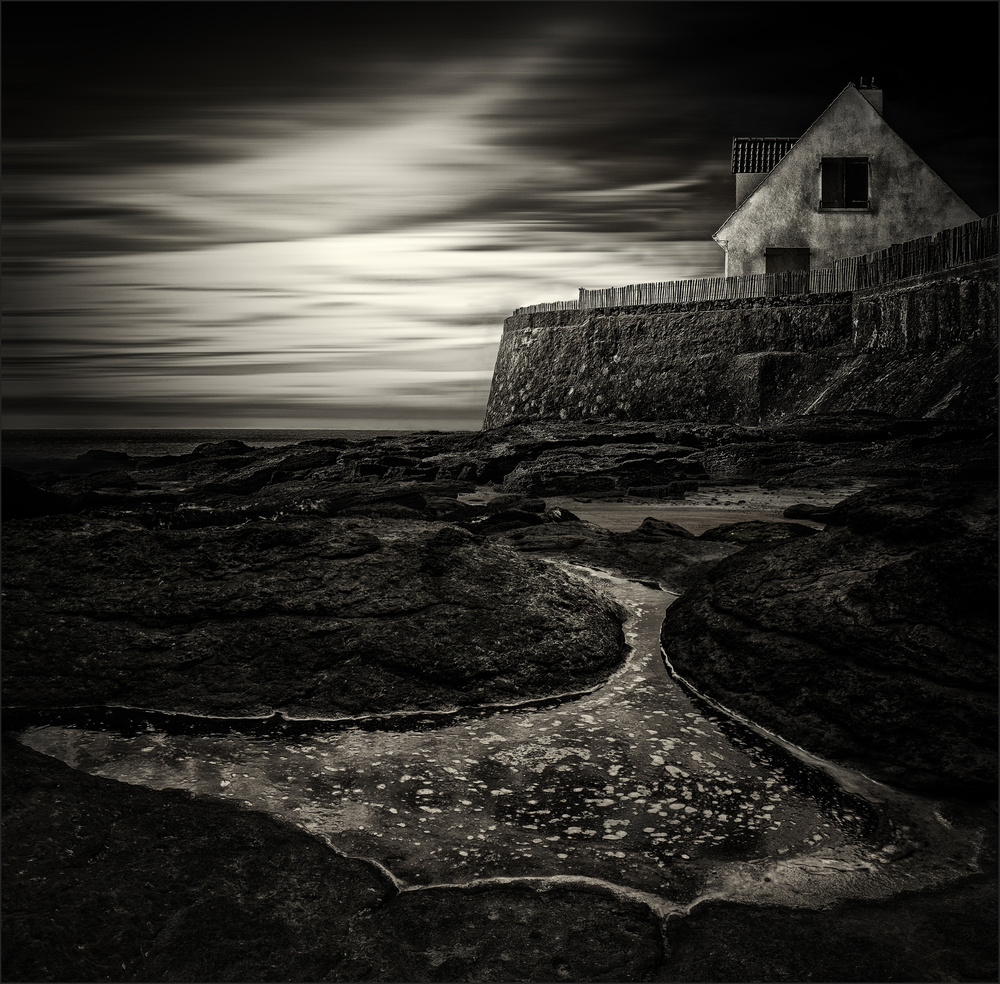 A piece of fine art art photography titled Cottage by the Sea by Gilbert Claes