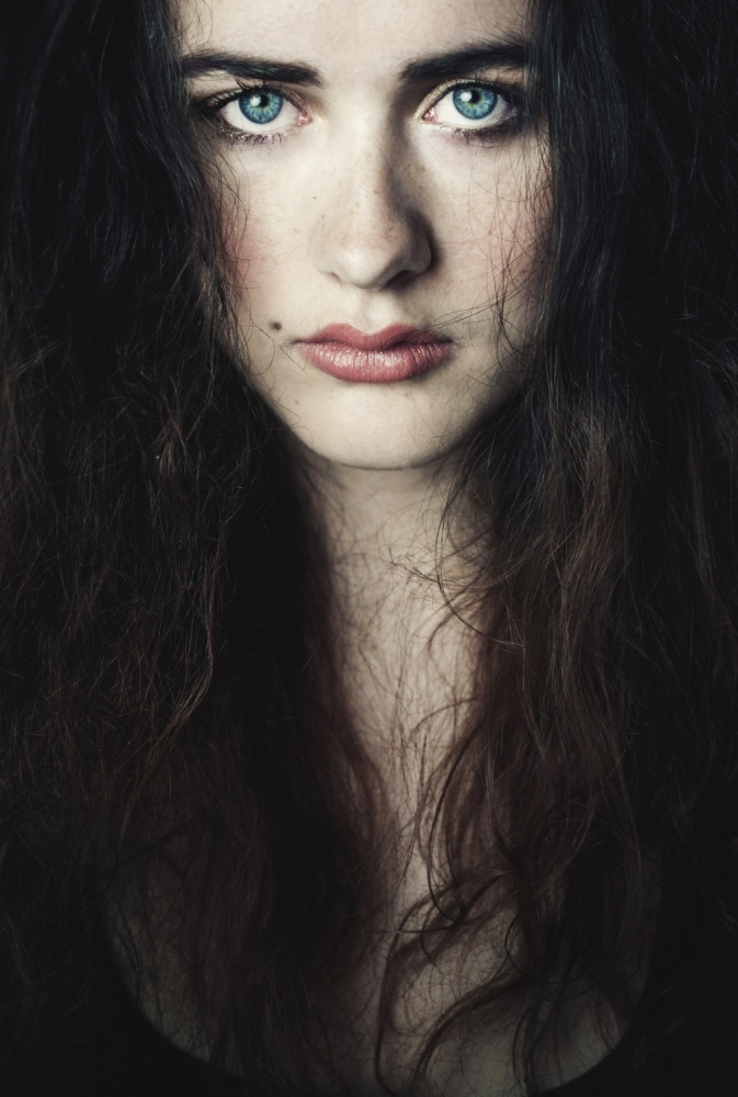 A piece of fine art art photography titled Blue Eyes by Ilse Noordhof