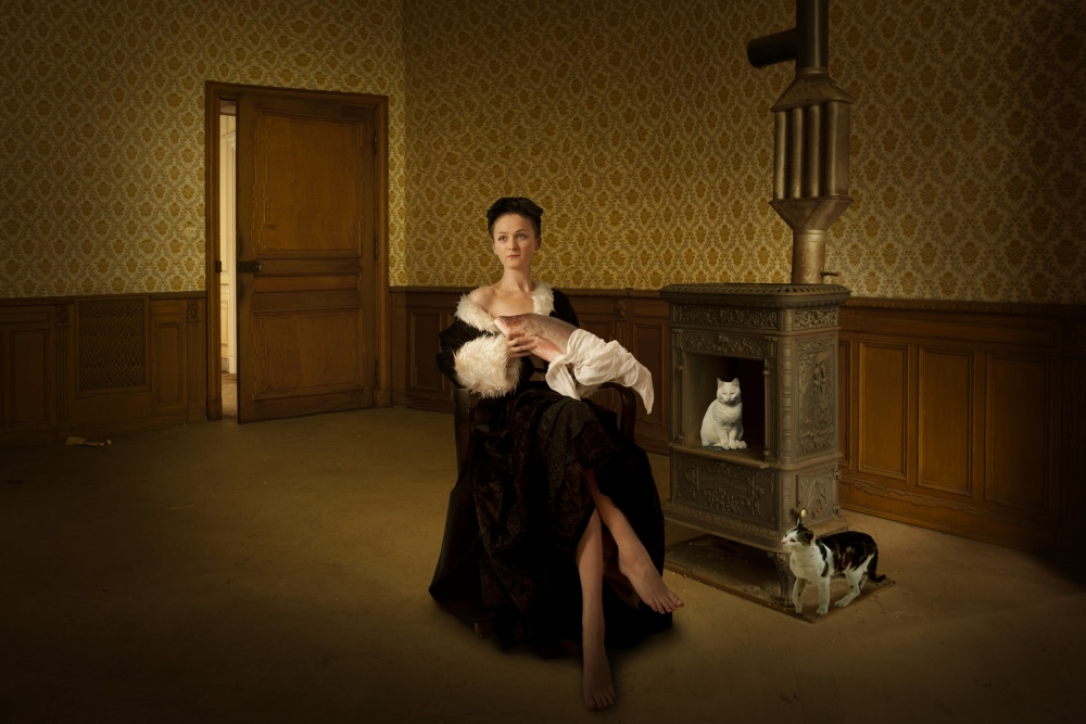 A piece of fine art art photography titled The Nurse by Christine von Diepenbroek