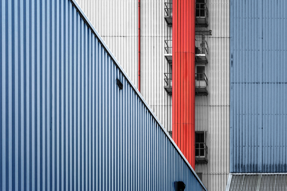 A piece of fine art art photography titled Industry In Verticals by Henk van Maastricht