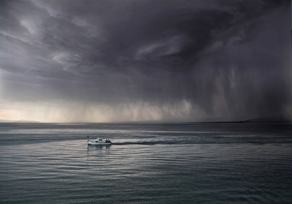 A piece of fine art art photography titled Escaping by Matjaz Cater