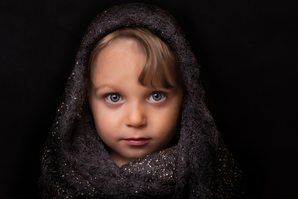A piece of fine art art photography titled Little Girl by Karel Stepanek