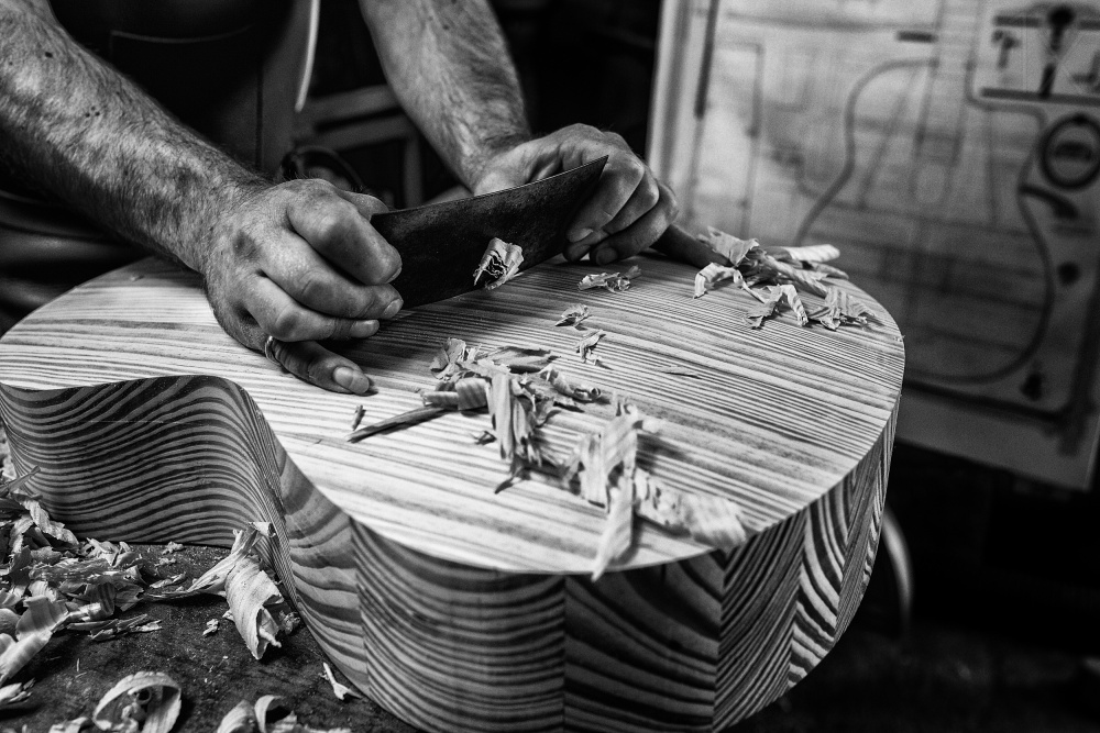 A piece of fine art art photography titled Le Luthier by Manu Allicot