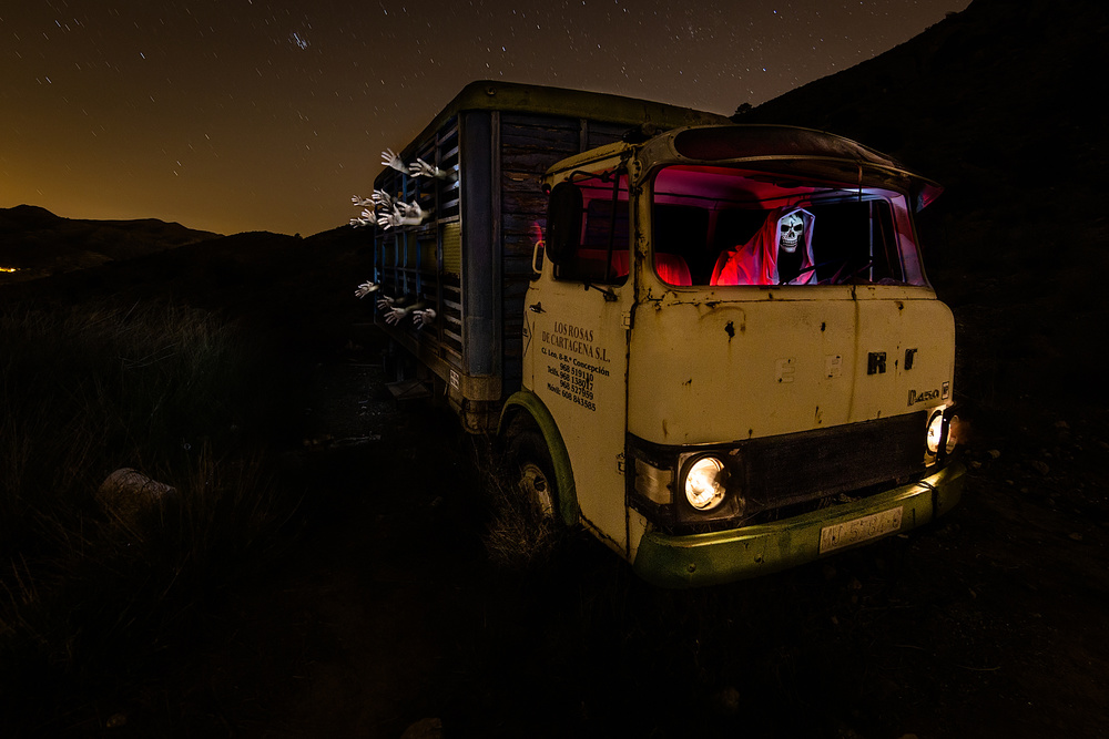 A piece of fine art art photography titled Truck of Death by David Ros