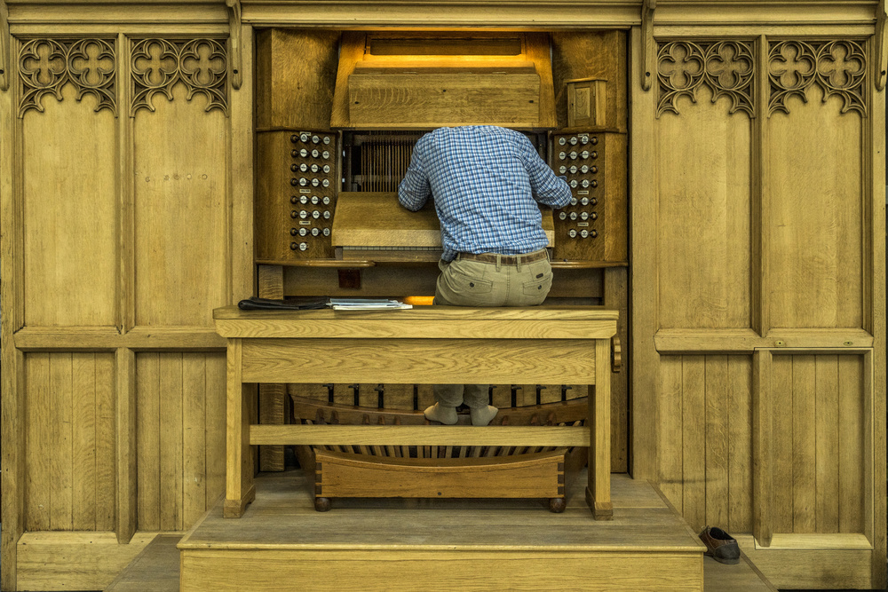 A piece of fine art art photography titled Repairing the Organ by Susanne Stoop