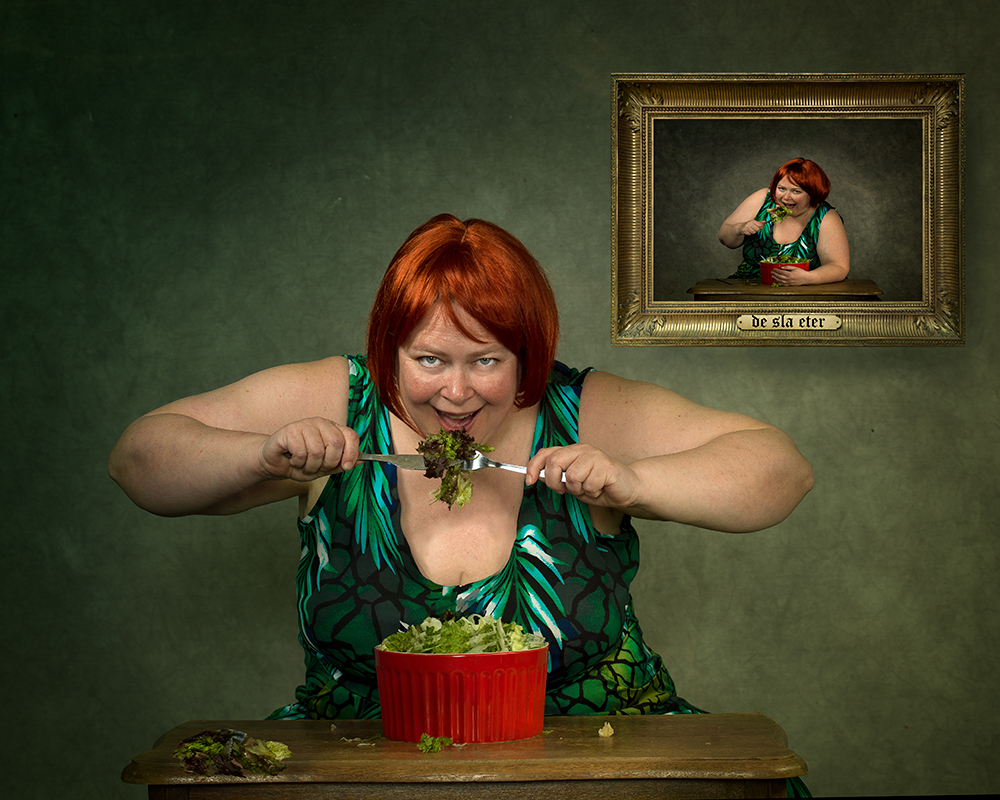 A piece of fine art art photography titled Hungry by Peter Kemp