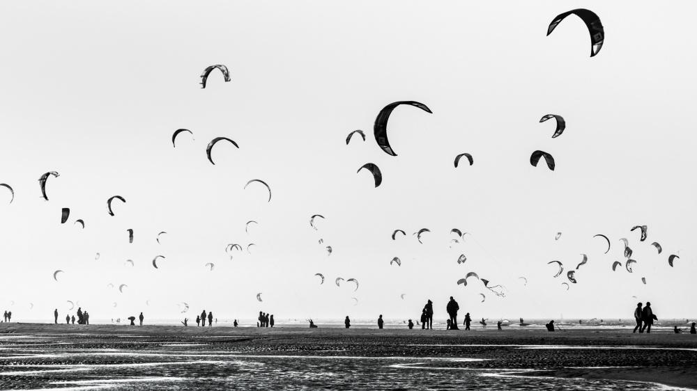 A piece of fine art art photography titled Germany - Modern Beach Life by Michael Jurek