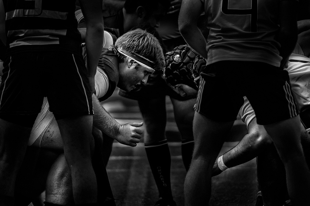 A piece of fine art art photography titled Rugby by Henry Zhao