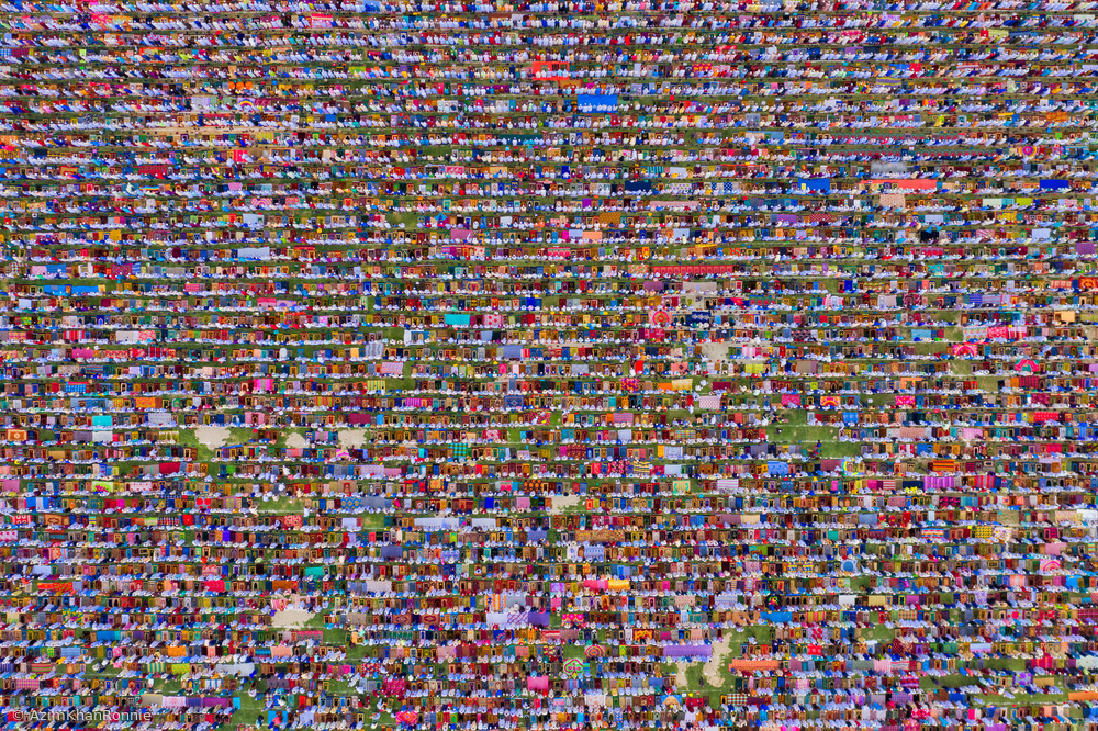 View this piece of fine art photography titled Biggest Eid Prayer by Azim Khan Ronnie