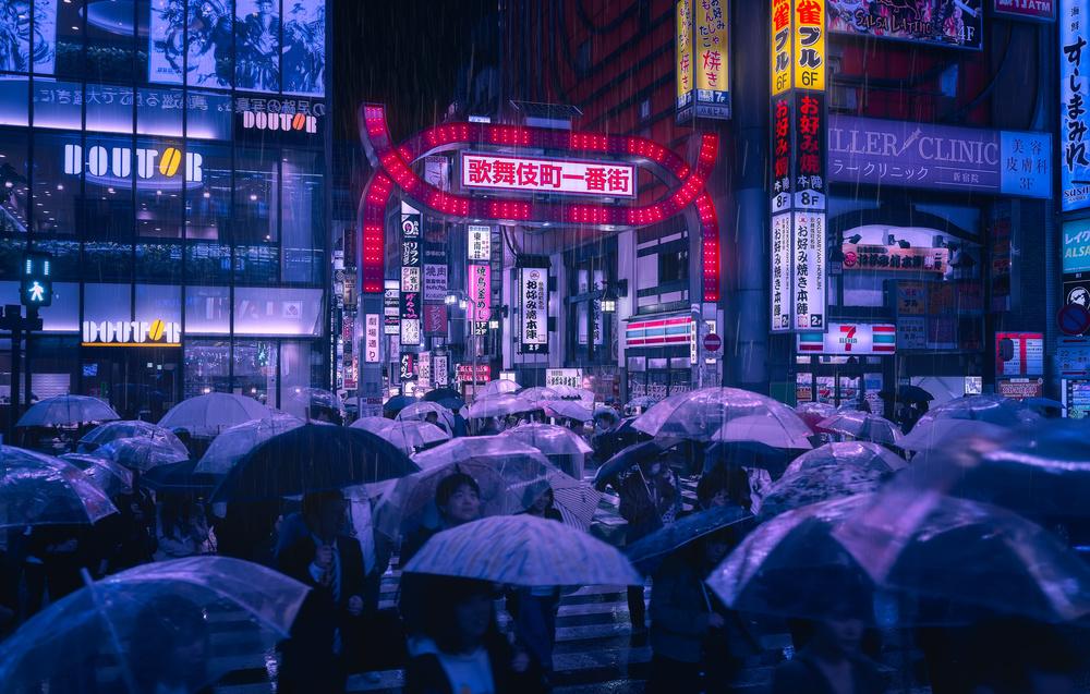 Tokyo Blue Rain