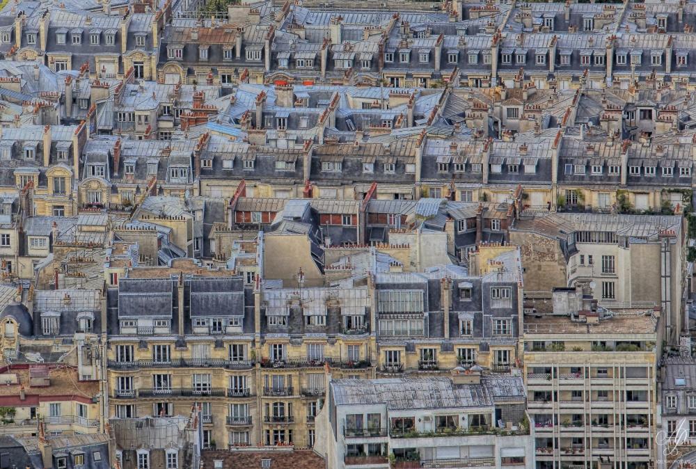 A piece of fine art art photography titled Parisian Roofs by Helena Adelmann