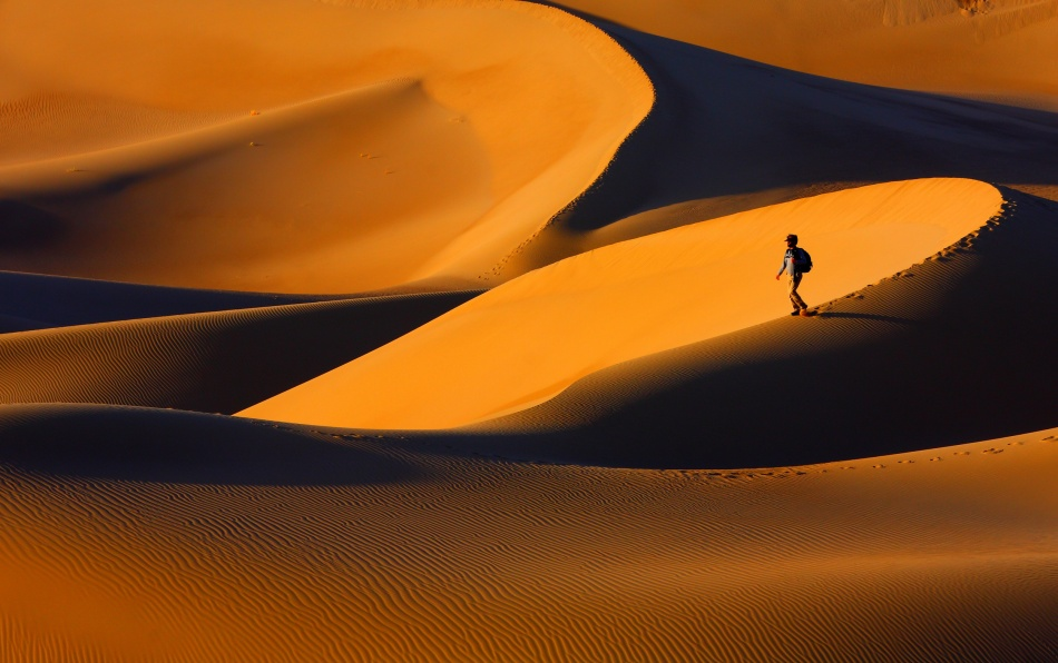 A piece of fine art art photography titled The Golden Light of Sunset, and Its Form by Ebrahim bakhtari bonab