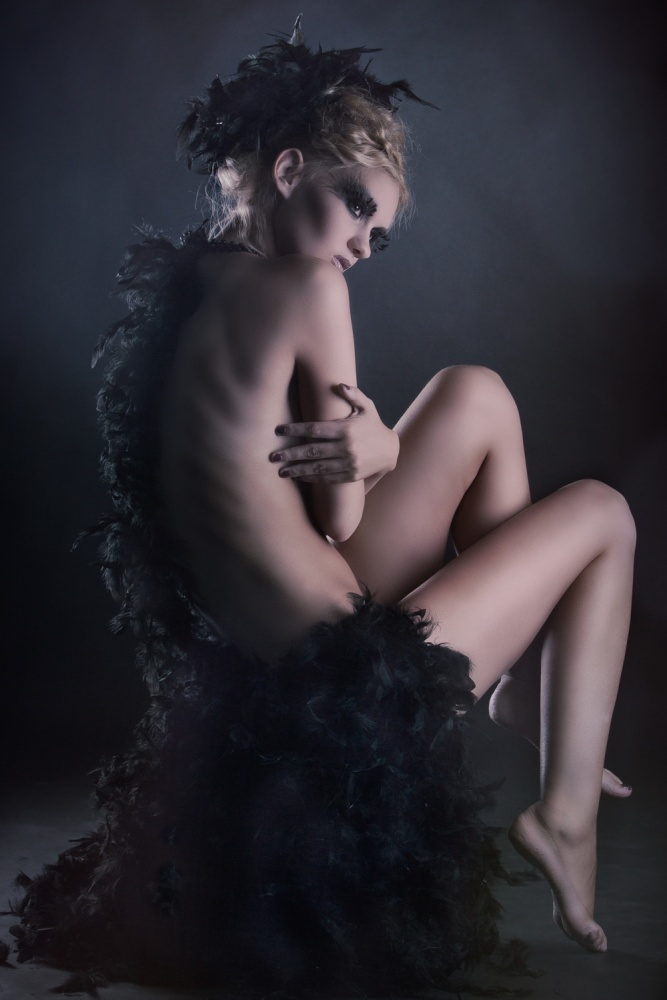 A piece of fine art art photography titled Black Angel by Tomas Czurylo