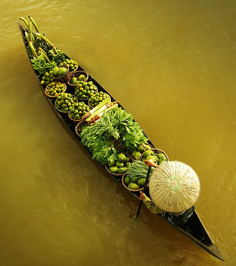 A piece of fine art art photography titled Floating Market by Edy Santosa