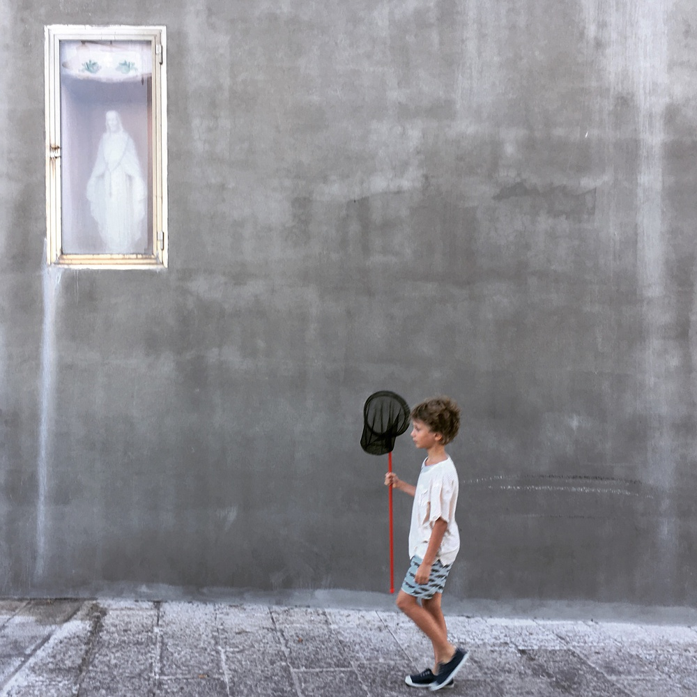 A piece of fine art art photography titled The Little Fisherman and the Madonna by Lorenzo Grifantini