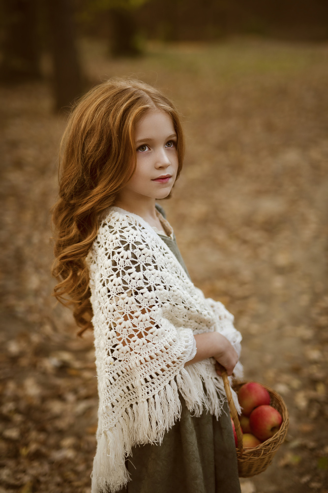 Autumn in her hair