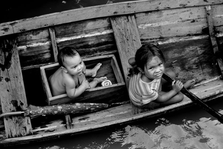 A piece of fine art art photography titled River Angels by Nuno Lopes