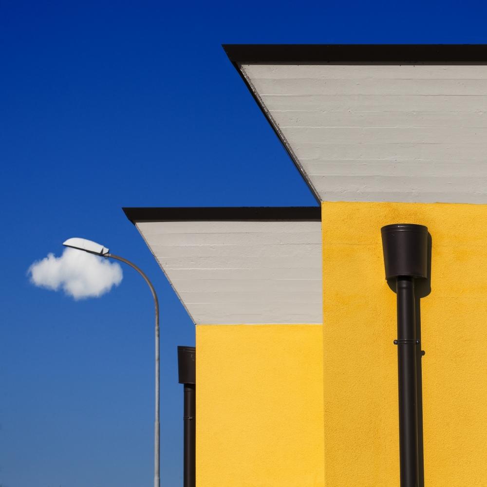 A piece of fine art art photography titled Cloud Maker Machine by Gianluca Morello
