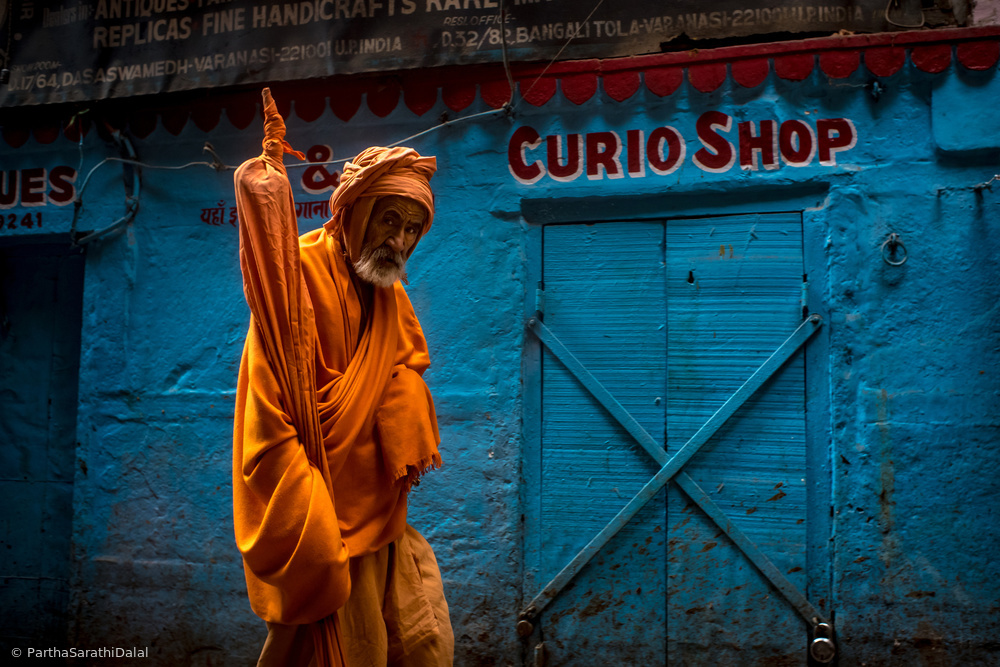 View this piece of fine art photography titled Hindu monk of Varanasi by Arnon Orbach