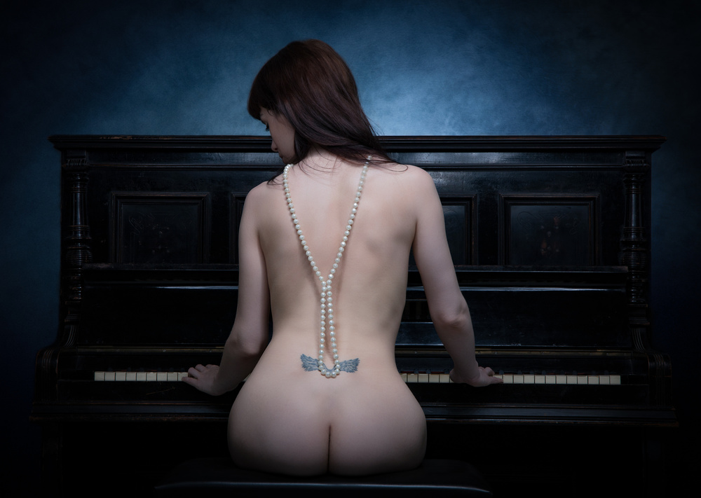 A piece of fine art art photography titled The Piano I by Luc Stalmans